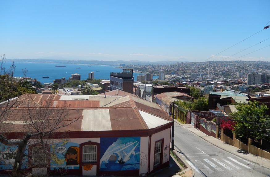 Vista de Valparaíso, Santiago