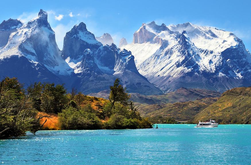 Lago Pehoé, Patagônia Chilena
