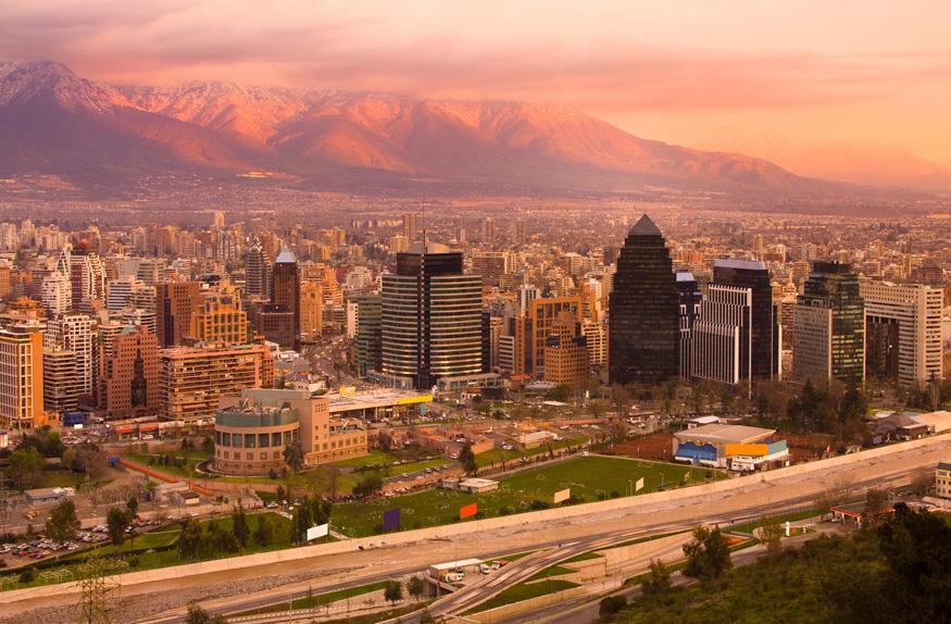 Panorâmica da cidade, Santiago