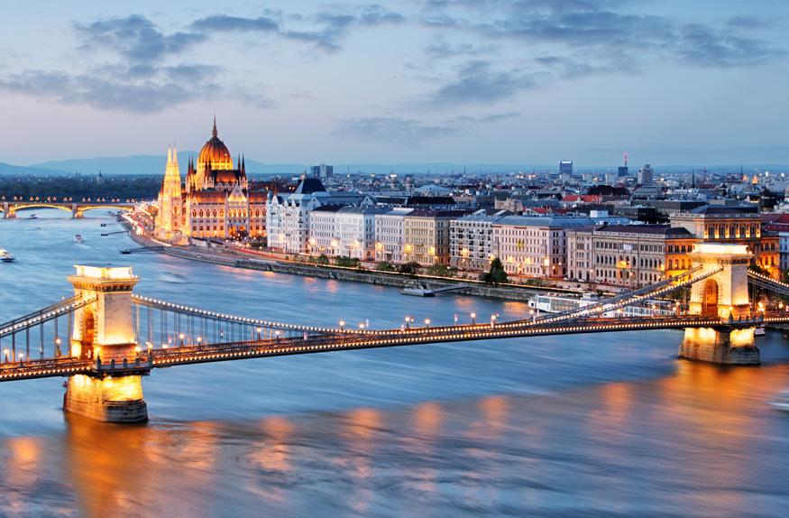 Vista da cidade de Budapeste