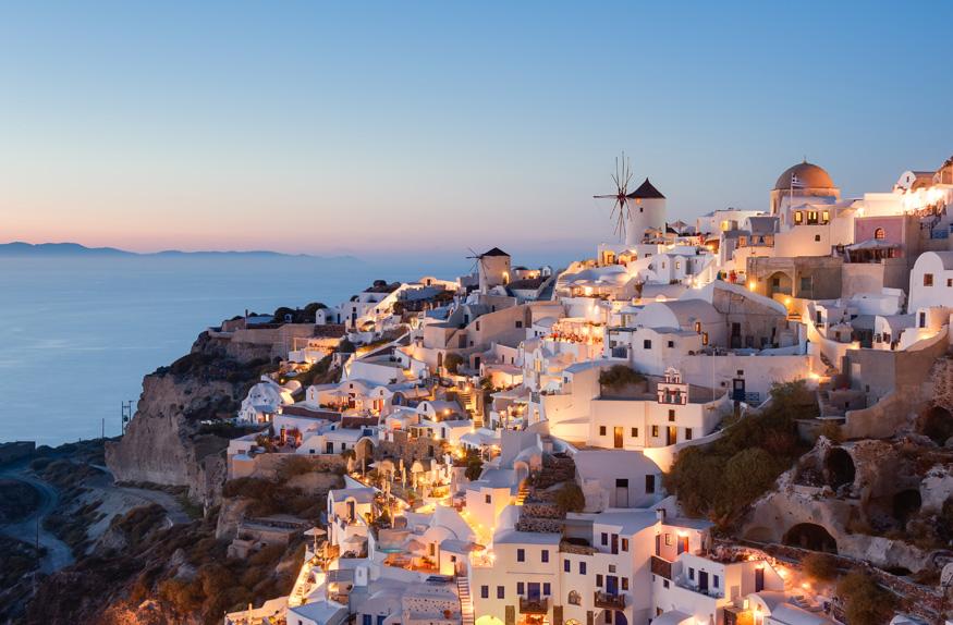 Oia, cidade na Ilha de Santorini