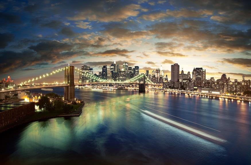 Nova York ao entardecer