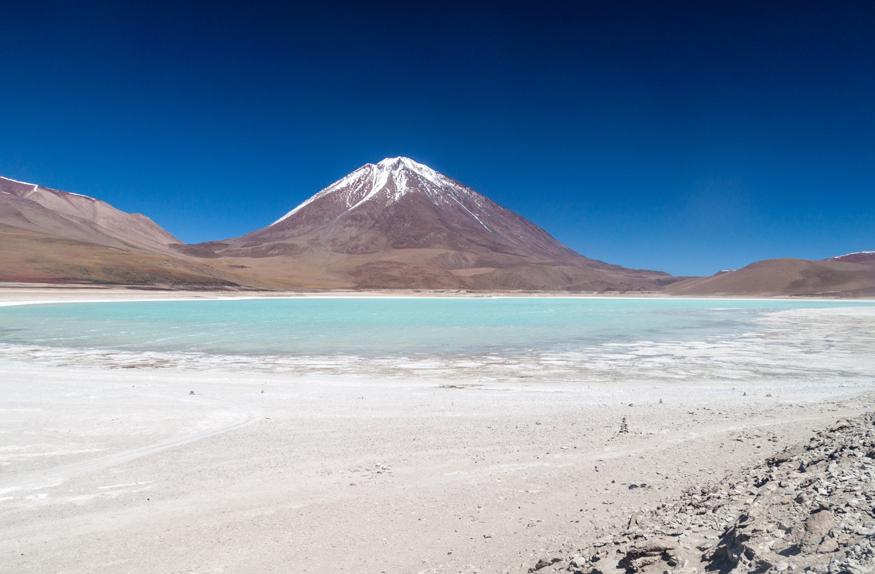 Laguna verde e Vulcão Licancabur, Deserto de Atacama
