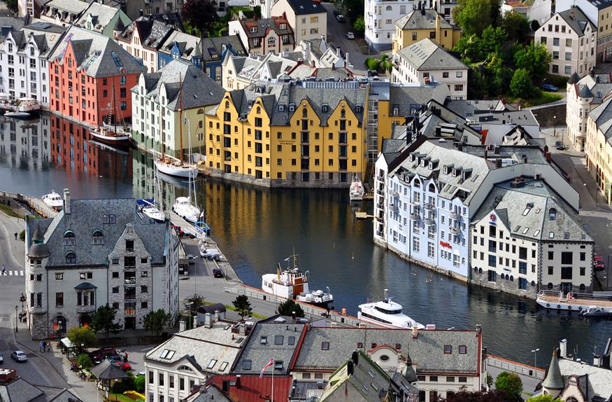 Vista de Aalesund, Oslo