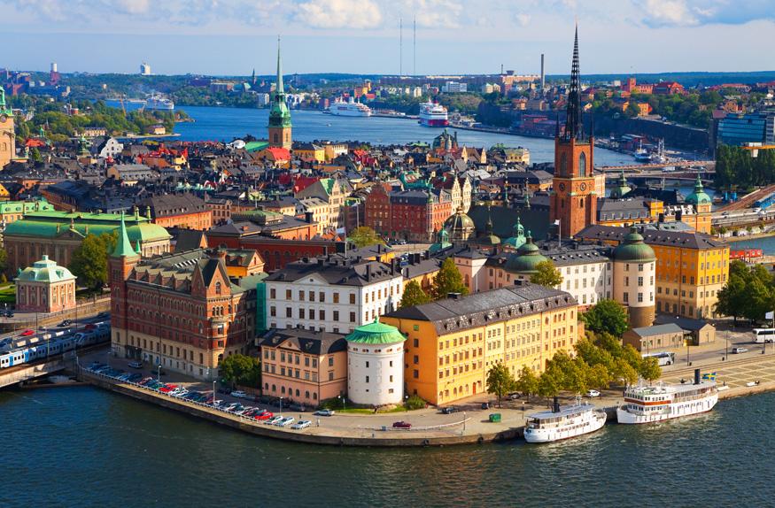 Vista panorâmica de Estocolmo