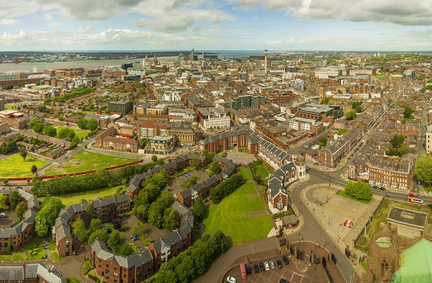 Panorâmica da cidade de Liverpool