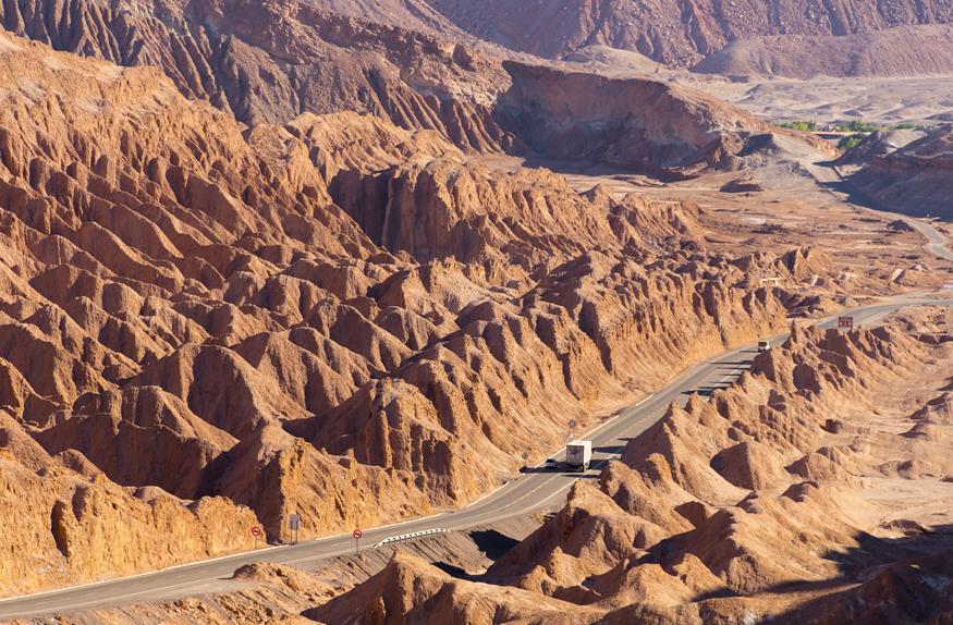Rodovia, Deserto de Atacama