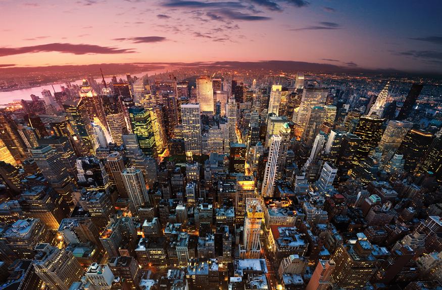 Vista aérea de Nova York