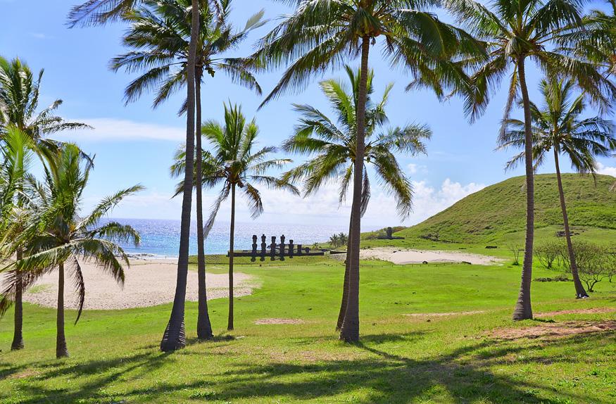Playa Anakena, Ilha de Páscoa