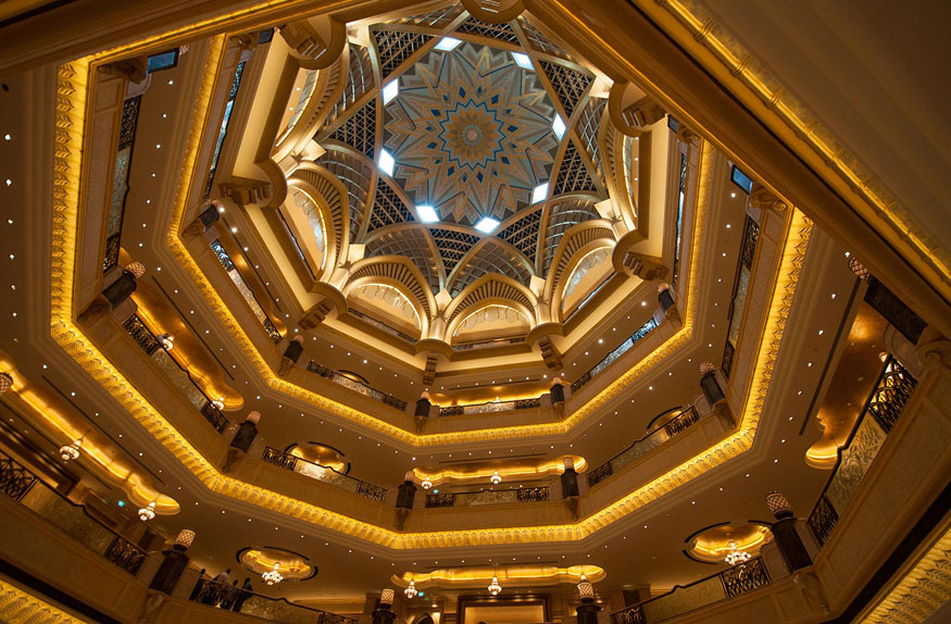 Domo interno, The Emirates Palace Hotel